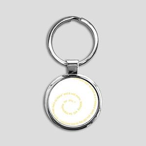 Faith Round Keychain