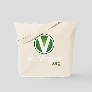 VforVeganGraphic-ColorKO Tote Bag