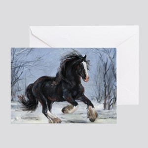 Winter Canter Greeting Card