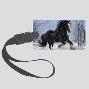 Winter Canter Large Luggage Tag