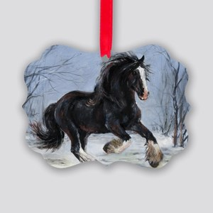 Winter Canter Picture Ornament