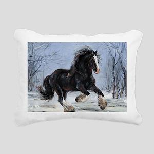 Winter Canter Rectangular Canvas Pillow