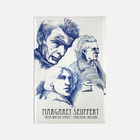 irish writers poster Rectangle Magnet