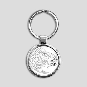 Koi carp fish Round Keychain