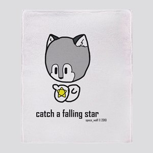 catch a falling star Throw Blanket