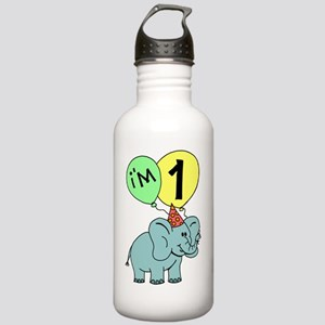 First Birthday Elephan Stainless Water Bottle 1.0L