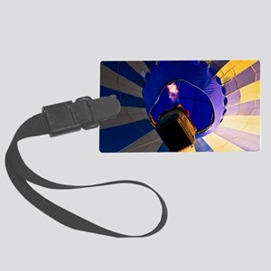 Going up hot air balloon Large Luggage Tag