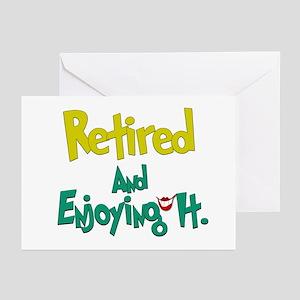 Retired Fun:-) Greeting Cards (Pk of 10)
