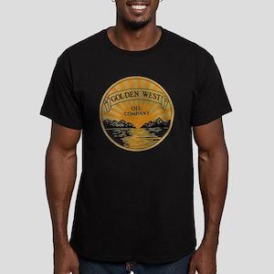Vintage Golden West Pr Men's Fitted T-Shirt (dark)