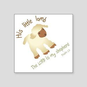 "His little lamb Blank Square Sticker 3"" x 3"""