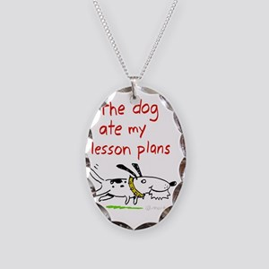 dog-ate-plans Necklace Oval Charm
