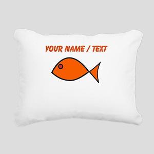Custom Orange Fish Rectangular Canvas Pillow