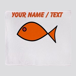Custom Orange Fish Throw Blanket