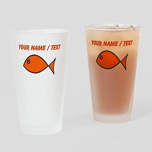 Custom Orange Fish Drinking Glass