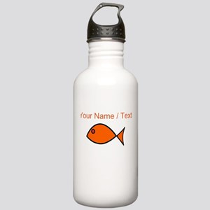Custom Orange Fish Water Bottle