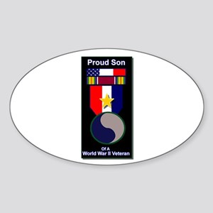 Proud Son of WWII 29th Div Soldier Oval Sticker