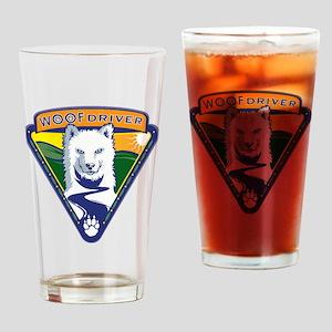 WoofDriverLogoShirt Drinking Glass