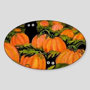 pumpkinspatchcats_miniposter_12x18_ Sticker (Oval)