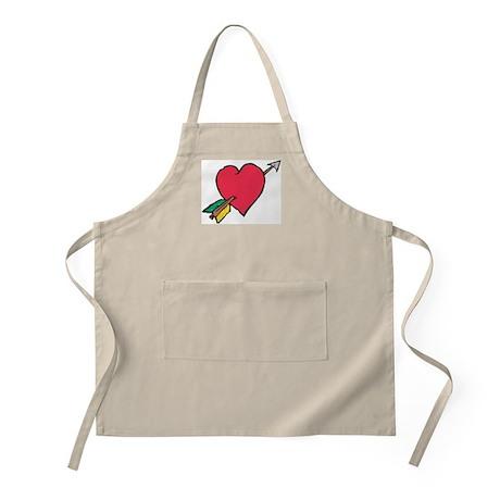 Pierced Heart BBQ Apron