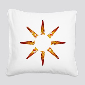 Painted Sun Square Canvas Pillow
