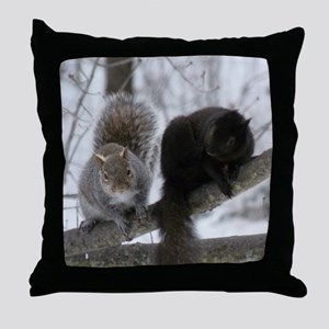 Squirrels chatting Throw Pillow