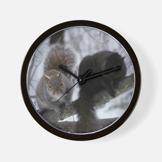 Squirrels chatting Wall Clock