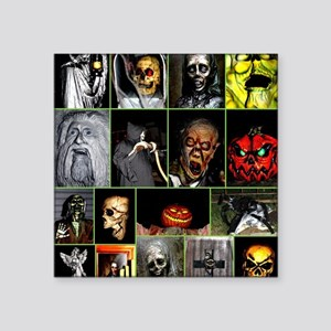 "Faces of Halloween Square Sticker 3"" x 3"""