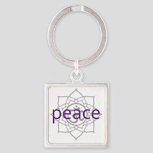 PeaceLotus Square Keychain
