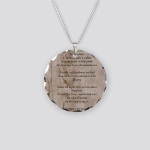 STAHM FP Necklace Circle Charm
