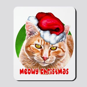 MeowyChristmasCircleWords Mousepad
