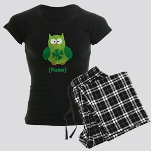 Personalized St Patrick's Day Owl Women's Dark Paj