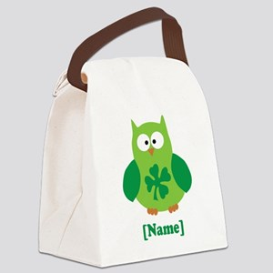 Personalized St Patrick's Day Owl Canvas Lunch Bag