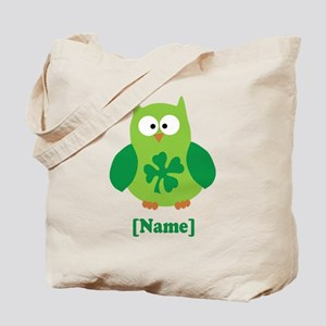 Personalized St Patrick's Day Owl Tote Bag