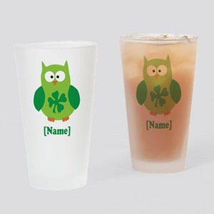 Personalized St Patrick's Day Owl Drinking Glass