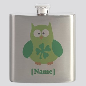 Personalized St Patrick's Day Owl Flask