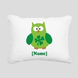 Personalized St Patrick's Day Owl Rectangular Canv