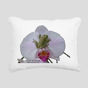 Hyla gratiosa trans copy Rectangular Canvas Pillow