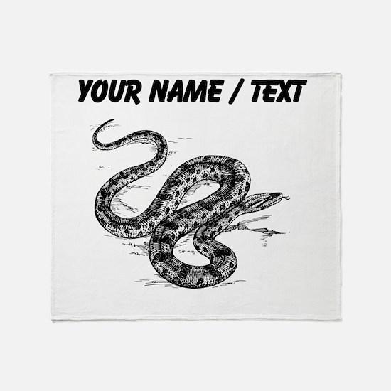Custom Anaconda Snake Throw Blanket