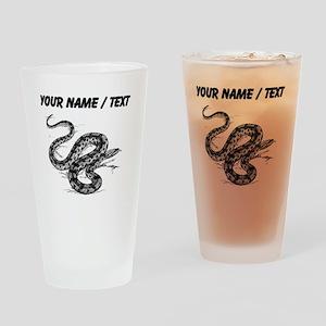 Custom Anaconda Snake Drinking Glass