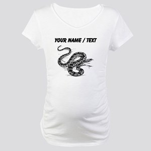 Custom Anaconda Snake Maternity T-Shirt