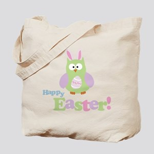 Happy Easter Owl Tote Bag