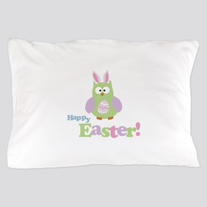 Happy Easter Owl Pillow Case