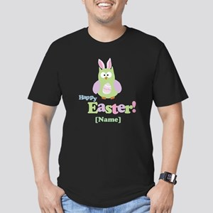 Personalized Happy Easter Owl Men's Fitted T-Shirt