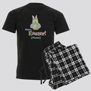 Personalized Happy Easter Owl Men's Dark Pajamas