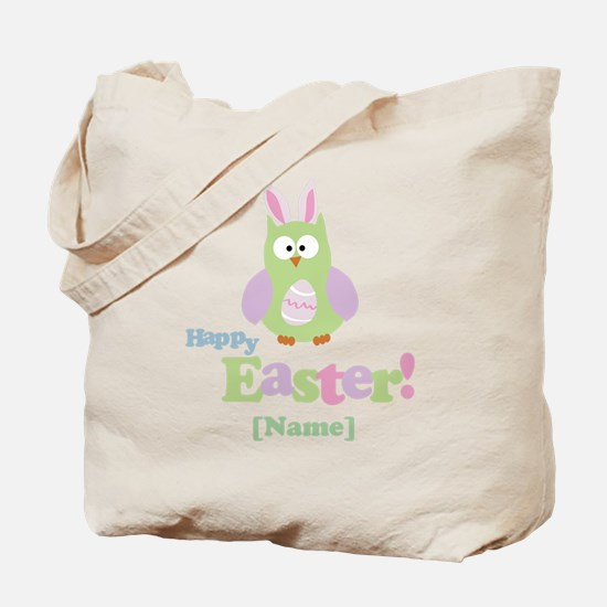 Personalized Happy Easter Owl Tote Bag