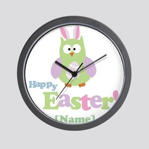 Personalized Happy Easter Owl Wall Clock