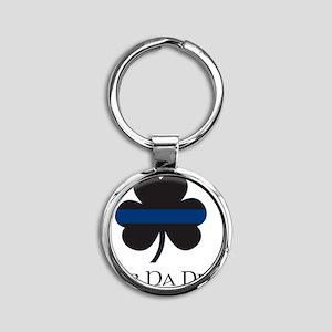 BLUELINE_pocket_gaelic Round Keychain