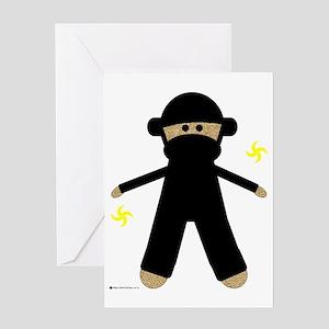 2-ninjamonkey Greeting Card
