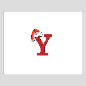 Letter Y Christmas Monogram Poster Design