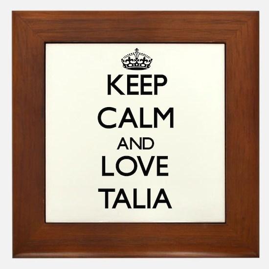 Keep Calm and Love Talia Framed Tile